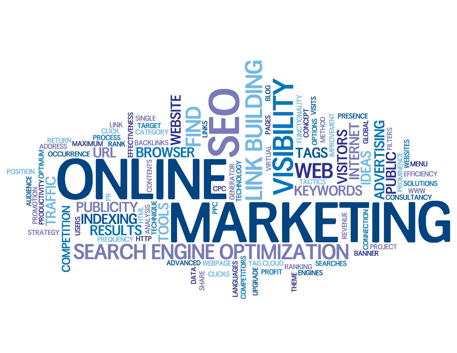 ONLINE MARKETING Tag Cloud (search optimisation link building)